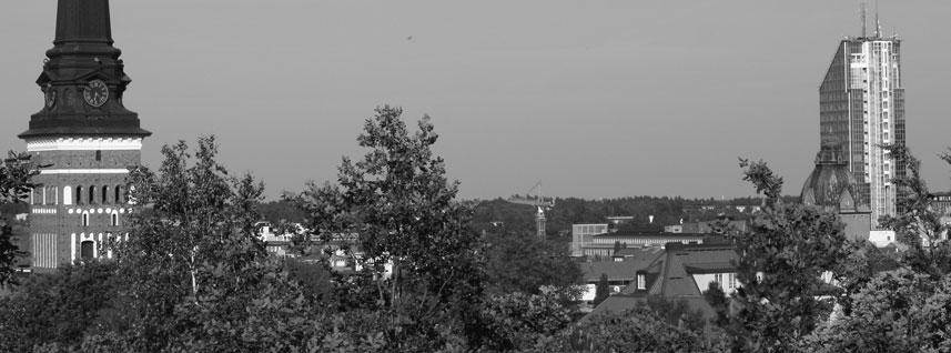 Vy över centrala Västerås